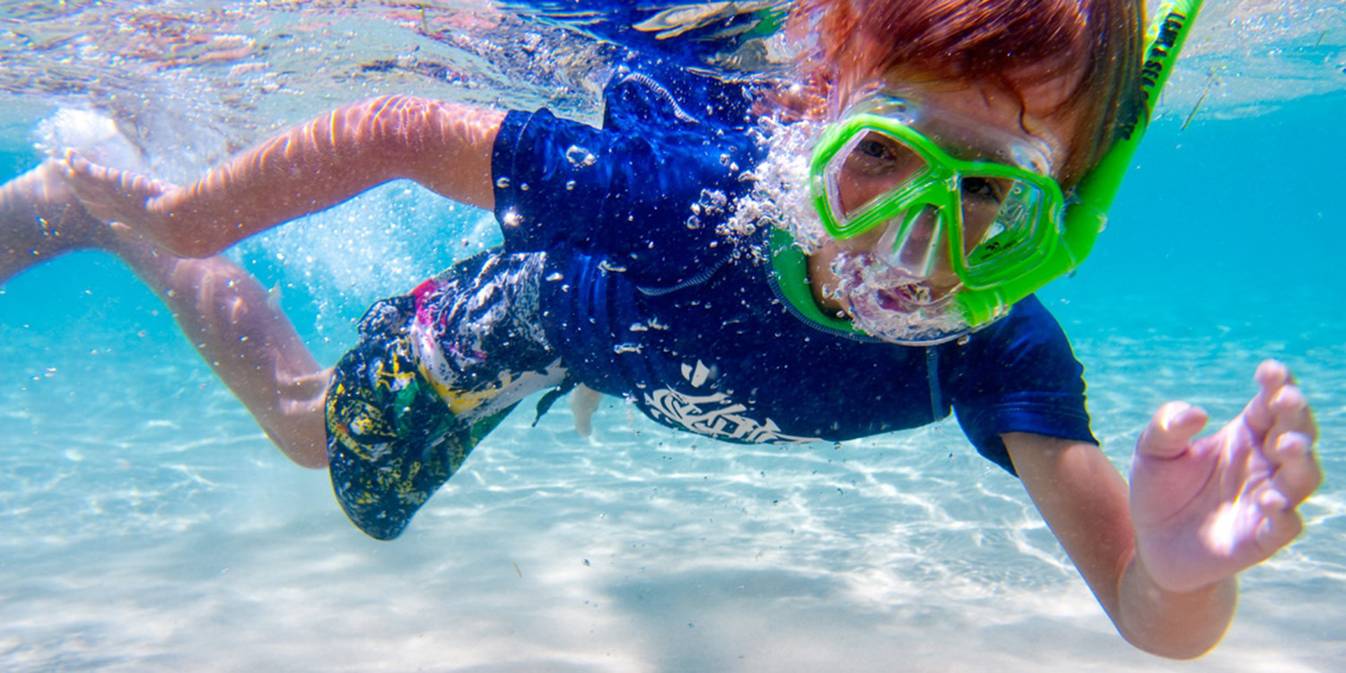 image of AARONTAIT COPYRIGHTED 2014 144 ADVERTISING LIFESTYLE BEACH ISLAND LIFE UNDERWATER SNORKELLING MASK DIVING CLEAR BOY FUN SPLASH