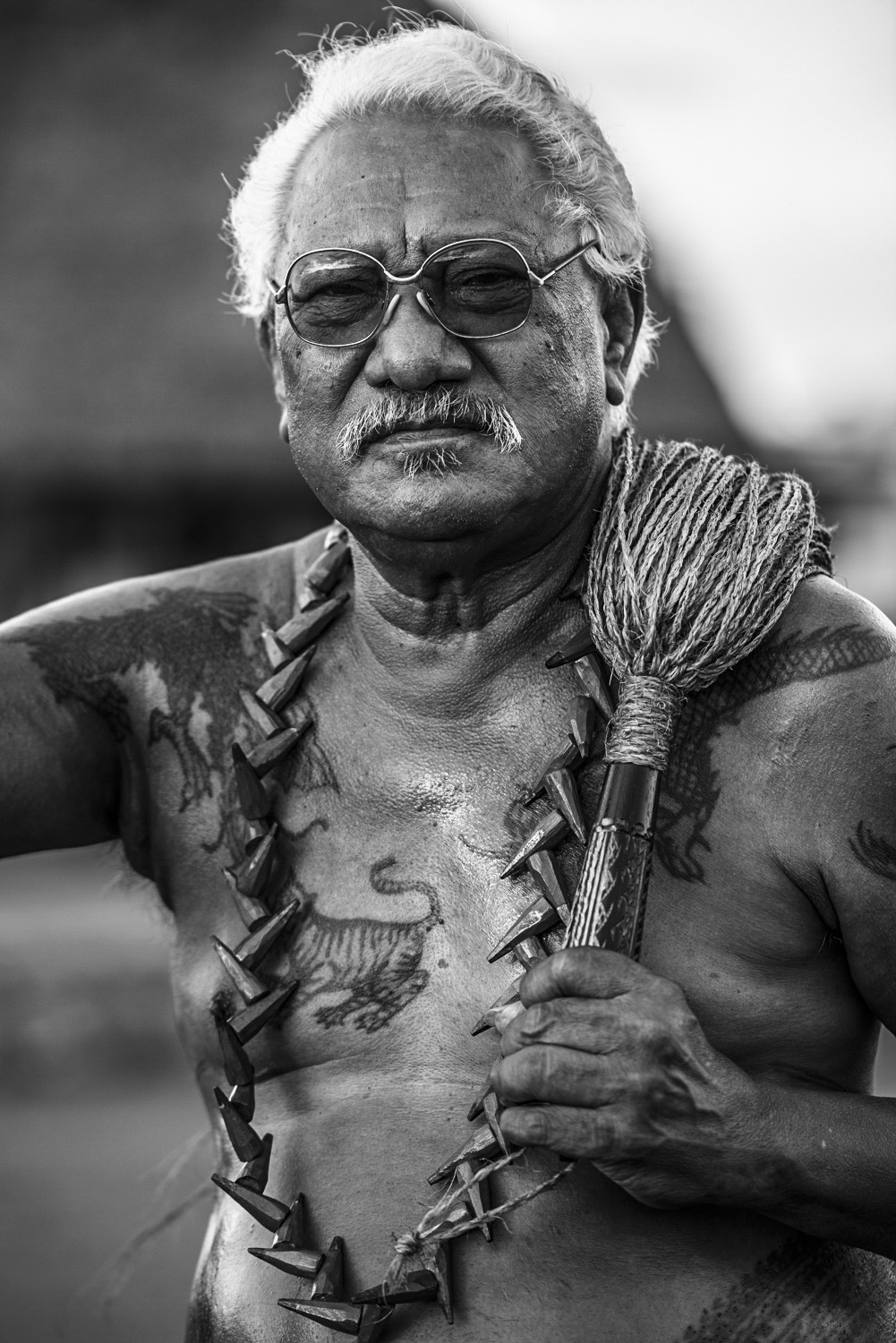 image of AARONTAIT COPYRIGHTED 2014 252 SAMOA TATAU TRADITION TATTOO PACIFIC UPOLU SAVAII CHIEFS VILLAGE FAA SAMOA PEA MALU DOCUMENTARY PHOTOGRAPHER BLACK WHITE PORTRAIT